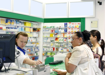 pharmacist in a counter